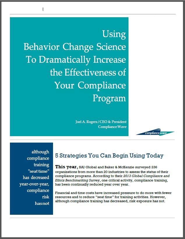 Behavior Change Science White Paper