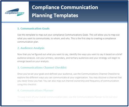 Communication Planning Templates